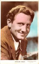 act020550 - Spencer Tracy Movie Star Actor Actress Film Star Postcard, Old Vintage Antique Post Card