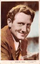 act020553 - Spencer Tracy Movie Star Actor Actress Film Star Postcard, Old Vintage Antique Post Card