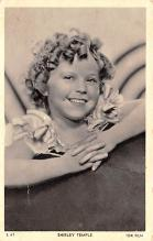 act020568 - Shirley Temple Movie Star Actor Actress Film Star Postcard, Old Vintage Antique Post Card