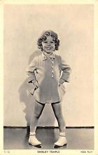 act020583 - Fox Film, Shirley Temple Movie Star Actor Actress Film Star Postcard, Old Vintage Antique Post Card