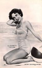 act020610 - Elizabeth Taylor Movie Star Actor Actress Film Star Postcard, Old Vintage Antique Post Card