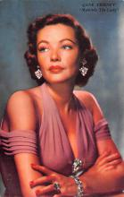 act020619 - Gene Tierney, 20th Century Fox Pictures Movie Star Actor Actress Film Star Postcard, Old Vintage Antique Post Card