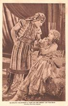 act022017 - Rudolph Valentino in Son of the Sheik with Vilma Banky Movie Star Actor Actress Film Star Postcard, Old Vintage Antique Post Card