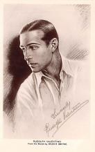 act022022 - Sketch by Hylda D Smythe, Rudolph Valentino Movie Star Actor Actress Film Star Postcard, Old Vintage Antique Post Card