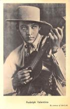 act022024 - Rudolph Valentino Movie Star Actor Actress Film Star Postcard, Old Vintage Antique Post Card
