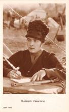 act022027 - Rudolph Valentino Movie Star Actor Actress Film Star Postcard, Old Vintage Antique Post Card