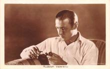 act022047 - Rudolph Valentino Movie Star Actor Actress Film Star Postcard, Old Vintage Antique Post Card