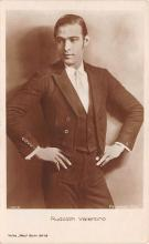 act022060 - Rudolph Valentino Movie Star Actor Actress Film Star Postcard, Old Vintage Antique Post Card