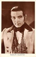 act022084 - Rudolph Valentino Movie Star Actor Actress Film Star Postcard, Old Vintage Antique Post Card