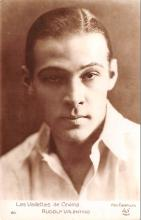 act022086 - Rudolph Valentino Movie Star Actor Actress Film Star Postcard, Old Vintage Antique Post Card
