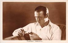 act022091 - Rudolph Valentino Movie Star Actor Actress Film Star Postcard, Old Vintage Antique Post Card