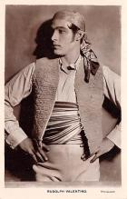 act022100 - Series 88, Rudolph Valentino Movie Star Actor Actress Film Star Postcard, Old Vintage Antique Post Card