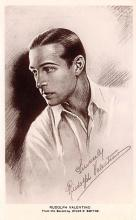 act022107 - Sketch by Hylda D Smythe, Rudolph Valentino Movie Star Actor Actress Film Star Postcard, Old Vintage Antique Post Card