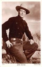 act023149 - John Wayne Movie Star Actor Actress Film Star Postcard, Old Vintage Antique Post Card