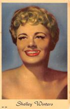 act023190 - Shelley Winters Movie Star Actor Actress Film Star Postcard, Old Vintage Antique Post Card
