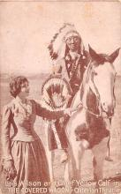 act023191 - Lois Wilson and Chief Yellow Calf, The Covered Wagon, Criterion Theatre Movie Star Actor Actress Film Star Postcard, Old Vintage Antique Post Card