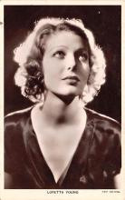 act024018 - Loretta Young Movie Star Actor Actress Film Star Postcard, Old Vintage Antique Post Card