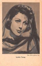 act024031 - Loretta Young Movie Star Actor Actress Film Star Postcard, Old Vintage Antique Post Card