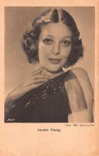 act024033 - Loretta Young Movie Star Actor Actress Film Star Postcard, Old Vintage Antique Post Card