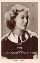 act025018 - Loretta Young Movie Actor / Actress, Entertainment Postcard Post Card