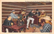 act027031 - Trial for the Shooting of Wild Bill Movie Star Actor Actress Film Star Postcard, Old Vintage Antique Post Card