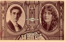 act027039 - The Broken Coin, Francis Ford, Grace Cunard Movie Star Actor Actress Film Star Postcard, Old Vintage Antique Post Card