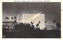 act027047 - Shooting at Night, Jackie Coogan Productions, Hollywood Movie Star Actor Actress Film Star Postcard, Old Vintage Antique Post Card