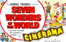 act027050 - Lowell Thomas, Seven Wonders of the World, Cinerama Movie Star Actor Actress Film Star Postcard, Old Vintage Antique Post Card