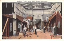 act027062 - Building a Set at the Metro Studios, Hollywood Movie Star Actor Actress Film Star Postcard, Old Vintage Antique Post Card