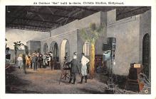 act027065 - Outdoor Set built in doors, Christie Studios, Hollywood Movie Star Actor Actress Film Star Postcard, Old Vintage Antique Post Card
