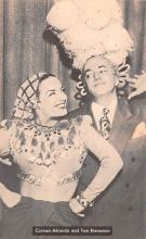 act027072 - Carmen Miranda and Tom Breneman Movie Star Actor Actress Film Star Postcard, Old Vintage Antique Post Card