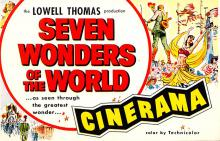 act027074 - Lowell Thomas, Seven Wonders of the World, Cinerama Movie Star Actor Actress Film Star Postcard, Old Vintage Antique Post Card