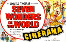 act027077 - Lowell Thomas, Seven Wonders of the World, Cinerama Movie Star Actor Actress Film Star Postcard, Old Vintage Antique Post Card