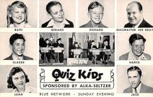 act027078 - Quiz Kides, Alka Seltzer, Blue Network Movie Star Actor Actress Film Star Postcard, Old Vintage Antique Post Card