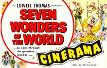 act027085 - Lowell Thomas, Seven Wonders of the World, Cinerama Movie Star Actor Actress Film Star Postcard, Old Vintage Antique Post Card