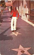 act027090 - The Walk of Fame, Hollywood, California Movie Star Actor Actress Film Star Postcard, Old Vintage Antique Post Card