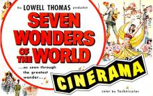 act027109 - Lowell Thomas, Seven Wonders of the World, Cinerama Movie Star Actor Actress Film Star Postcard, Old Vintage Antique Post Card