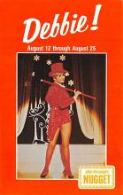 act027135 - Debbie Reynolds, John Ascuaga's Nugget Movie Star Actor Actress Film Star Postcard, Old Vintage Antique Post Card