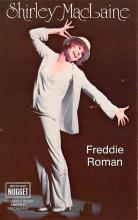 act027138 - Shirley McLaine, Freddie Roman Movie Star Actor Actress Film Star Postcard, Old Vintage Antique Post Card