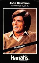 act027149 - John Davidson, Harrah's Movie Star Actor Actress Film Star Postcard, Old Vintage Antique Post Card