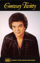 act027159 - Conway Twitty, Celebrity Room Theater Restaurant Movie Star Actor Actress Film Star Postcard, Old Vintage Antique Post Card