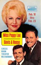 act027161 - Miss Peggy Lee, Davis & Reese, Circus Room Theater Restaurant Movie Star Actor Actress Film Star Postcard, Old Vintage Antique Post Card