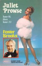 act027162 - Juliet Prowse, Foster Brooks Movie Star Actor Actress Film Star Postcard, Old Vintage Antique Post Card