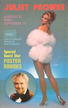 act027163 - Juliet Prowse, Foster Brooks Movie Star Actor Actress Film Star Postcard, Old Vintage Antique Post Card