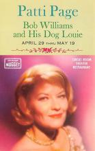 act027164 - Patti Page, Bob Williams and His Dog Louie Movie Star Actor Actress Film Star Postcard, Old Vintage Antique Post Card