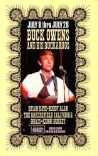 act027167 - Buck Owens & His Buckaroos, Circus Room Theater Restaurant Movie Star Actor Actress Film Star Postcard, Old Vintage Antique Post Card