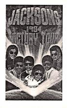 act027181 - Jacksons, Victory Tour 1984 Movie Star Actor Actress Film Star Postcard, Old Vintage Antique Post Card