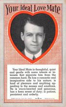 act027190 - Your Ideal Love Mate Movie Star Actor Actress Film Star Postcard, Old Vintage Antique Post Card