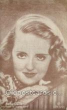 act050066 - Bette Davis Movie Actor / Actress, Entertainment Postcard Post Card