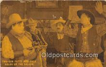 act075014 - Two Gun Fatty Arbuckle Holds up the Saloon Movie Actor / Actress, Entertainment Postcard Post Card